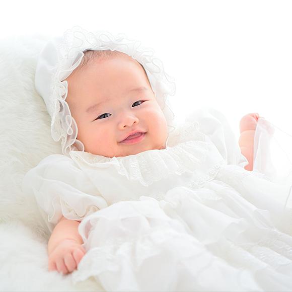 赤ちゃんのお顔が輝くような写真を残せます